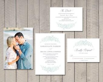 Poppy Wedding Invitation, Response, Details Card (Printable) by Vintage Sweet