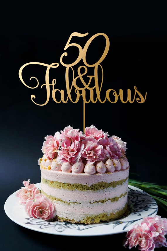 50th Birthday Cake Topper Anniversary Cake Topper 50 and
