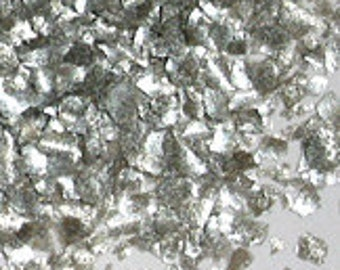 Metallic Silver Edible Glitter - metallic shimmer flake sprinkles for cupcakes, cookies, cakes