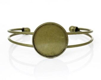 1 x medium bracelet bronze 25mm - SC42132 - cabochon