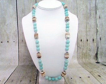 Sand & Sea Necklace with Matching Earrings