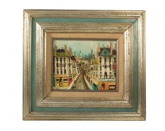 Original Robert Scott Painting - Paris Street Scene - Signed Robert Scott