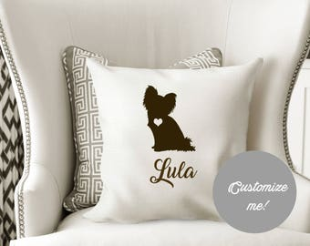 Personalized PAPILLON Pillow Cover