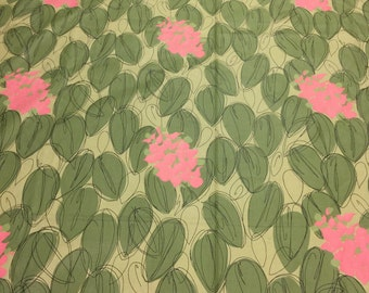 Upholstery Fabric Green. 1/2 yd. Botanical Fabric. Tropical Upholstery Fabric. Floral Fabric. Floral Upholstery Fabric