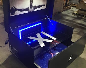 Reserved Listing for Carrie Giant Air Jordan Inspired Space Jam Shoebox Color changing LED lights (small version)