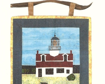 Point Pinos Pacific Grove California Lighthouse Quilt California Series Paper Piecing Wall Quilt Wallhanging Pattern New