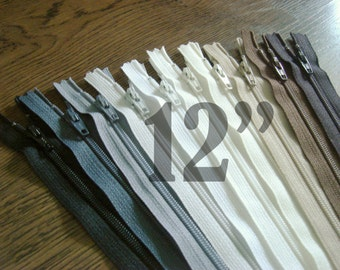 12 inch zippers ykk zippers assorted zippers nylon zippers 12 inch zips ykk zips wholesale zippers sampler pack zipper - 10 pieces NYL12