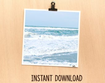 Instant download picture - Nature beach sea waves blue zen