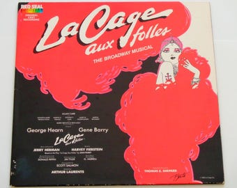 "La Cage Aux Folles - The Broadway Musical - ""I Am What I Am"" - Original Cast Record RCA Red Seal 1983 - Gatefold Vinyl Lp Record Album"