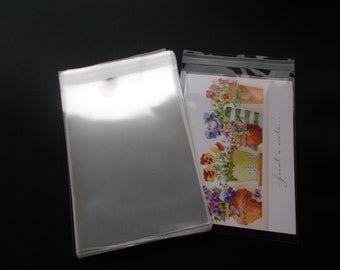Plastic envelope etsy 100 5 14 x 7 14 clear resealable cello bag envelope for 5x7 photos art prints a7 card greeting cards acid free m4hsunfo
