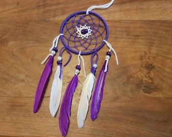 Dream catcher, handmade dreamcatcher, purple and white, wall decor / real 30 cm