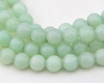 15.5  Inch Full Strand  Natural  Blue   Amazonite  10mm  Round  Bead