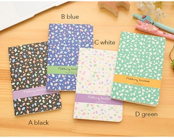 Set of 4 Colourful leaf small pocket notebook notepad