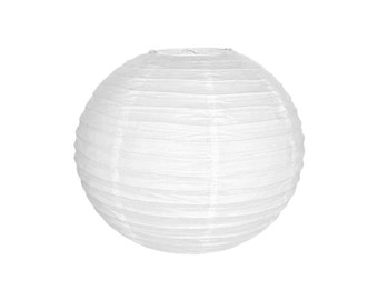 """12"""" White Paper Lantern RPL120082 Just Artifacts Brand - Paper Lanterns for Weddings, Parties, & Home Decor"""