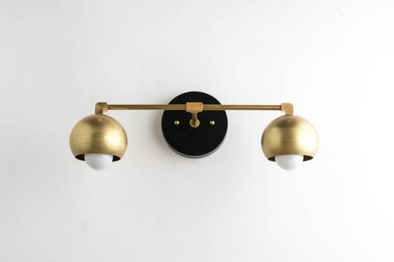Gold Vanity Lights Bathroom Lamp Mid Century Bathroom