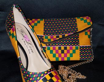African Covered Clutch