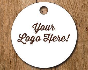 """Customized 2"""" Logo Hang Tags Price Tags Product Display - favor - thank you"""