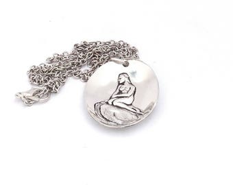 The Little Mermaid necklace, Denmark necklace, Copenhagen necklace, mermaid necklace