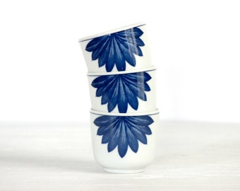 Hand Painted Cups - Vintage serving cups with a hand painted floral design