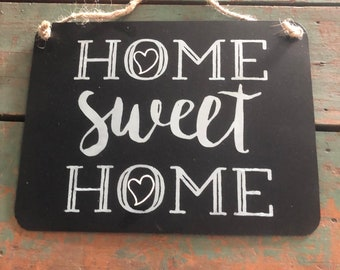 "Metal Sign ""Home Sweet Home""  by JunkFx"