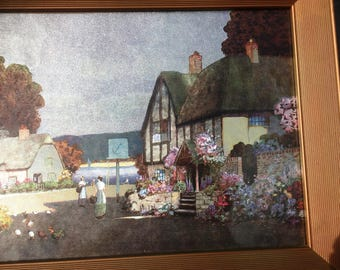 Stunning Example of Pastoral Impressionist Silver/Metallic Painting--One of a Pair