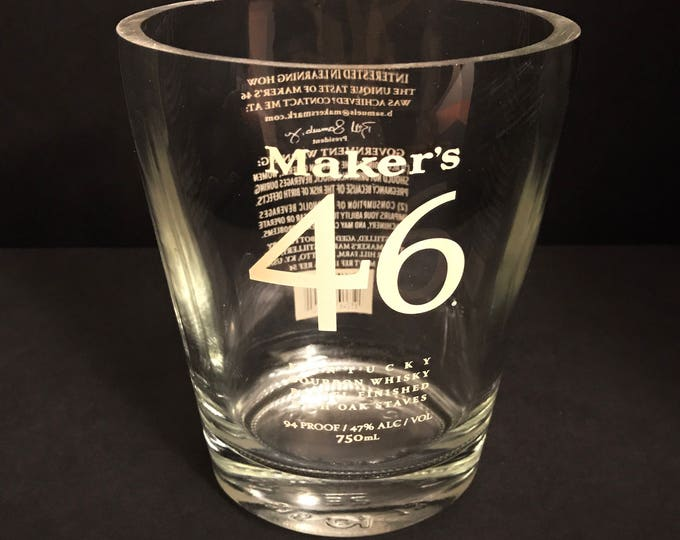 Recycled Maker's Mark 46 Bourbon Whisky Bottle Candle