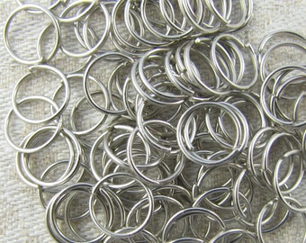 100 pieces, Stainless, Open Jump Rings, 8mm Jump Rings, Stainless Jump Rings, Jump Rings, Charm Jump Rings, Stainless Steel, FIN104