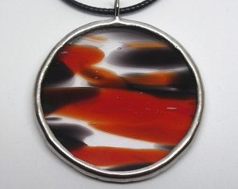 Volcanic - Stained Glass Pendant