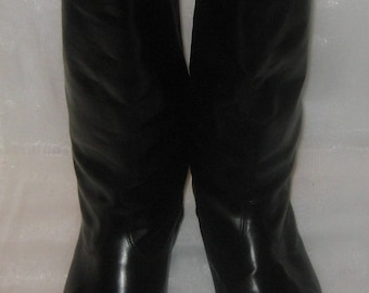 Vintage officer warm riding boots  size 41 (EU 42, US 8.5)