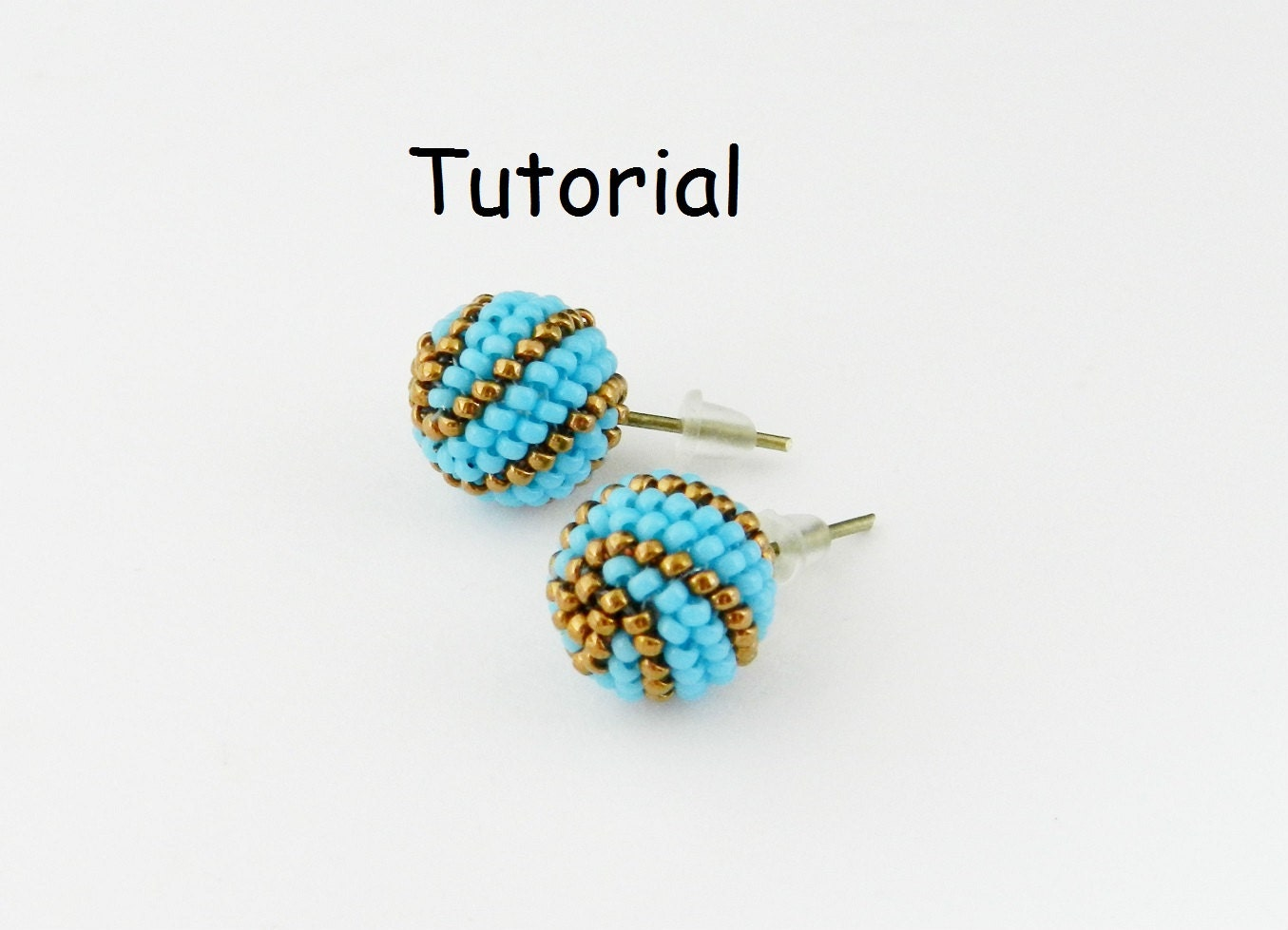 seed pin stud avior tutorials post bead shiny rivoli bezel with earrings beaded