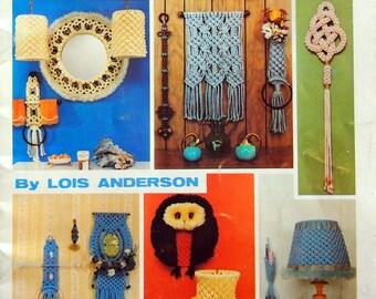 Macrame Open House By Lois Anderson Vintage Macrame Pattern Booklet 1979