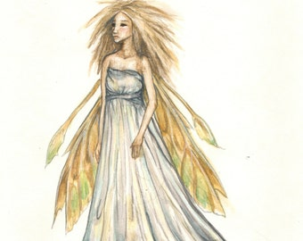 Titania Faerie Watercolor 8x10 Art Print