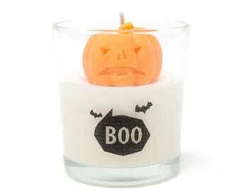 BOO Pumpkin Candle, pumpkin scented, Halloween candle, halloween decor, gift idea, funny unique candle, halloween gift candle - EINSHOP