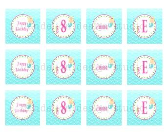 PRINTABLE Party Tags - Mermaid Party Collection - Dandelion Design Studio
