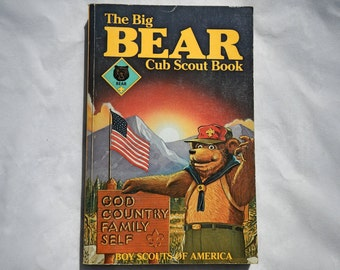 The Big Bear Cub Scout Book by Boy Scouts of America Vintage Paperback Book