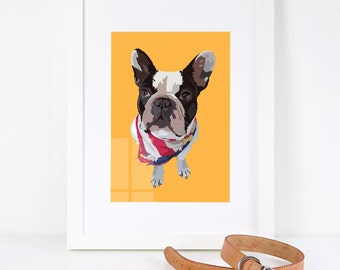 Personalised Pet Illustration Print