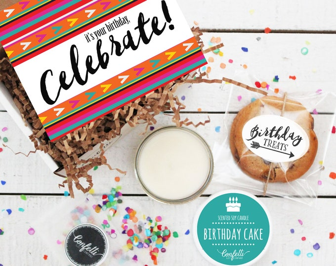 Mini It's Your Birthday Celebrate Gift Box - Send a Birthday Gift | Birthday in a Box | Friend Gift | Coworker Gift | Birthday Card