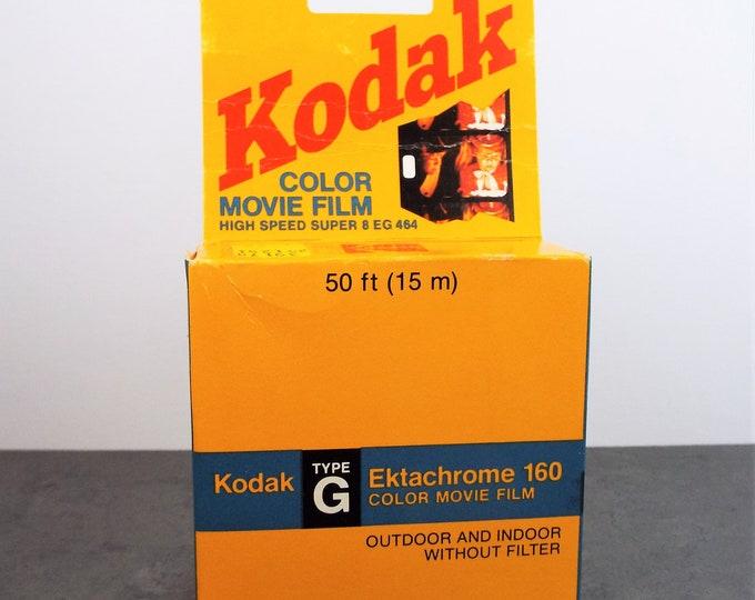 Vintage Kodak Ektachrome 160 Super 8 Color Movie Film - Unopened Box - Expired 1985 - Home and Office Decor - Super Cool!