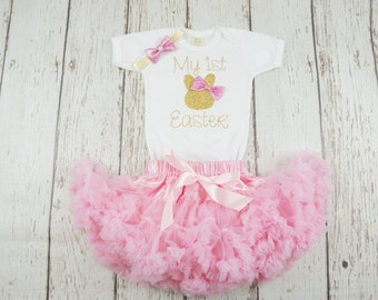 my first easter outfit, easter girl outfit, easter tutu dress, easter tutu outfit, baby girl easter, baby bunny shirt, 1st easter shirt