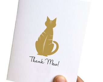 thank you card card, kitty card, cat card, thank you card for her, retro greeting card, retro card, thank you card