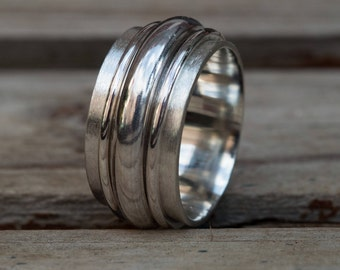Mens ring, Mens ring silver, Personalized silver ring, Mens jewelry, Wedding band , Wide band ring, Silver ring, Rings, Mens wedding band
