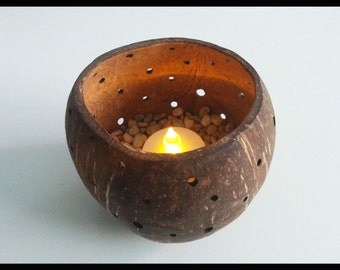 Candle holder coco (coconut candle holder)