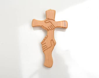 Cross, Wall cross, wall decor, wall hanging, catholic, crucifix, wood cross, wooden cross, decorative cross, wall crucifix, christian