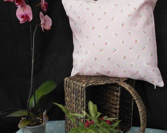 """Floral Cushion Cover, Handmade from British Designer , Cath Kidston's, """" Pink Floral Spot"""", Cotton Duck Fabric"""