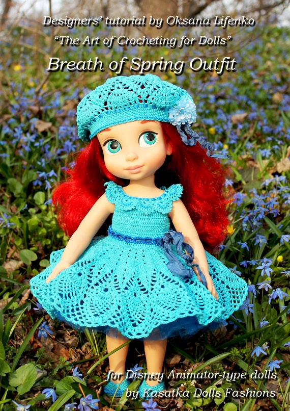 PDF Doll Clothes Crochet Pattern Breath of Spring Outfit for Disney ...