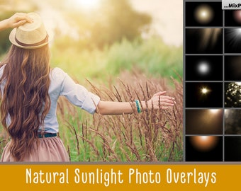 Sunlight  photoshop overlays, Sun Lens Flare Overlays, Sunlight Photo Overlays, Digital Backdrop, Sun Effect, Sunlight Rays