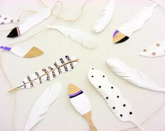 Boho plume plume décoration de mariage, guirlande, décoration murale plume