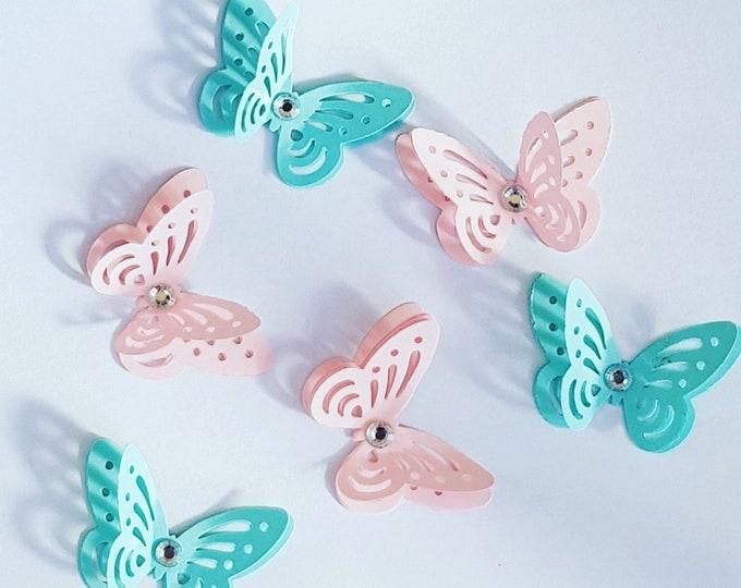 3D butterflies x 20 Baby shower Wedding Table decor Craft embellishment