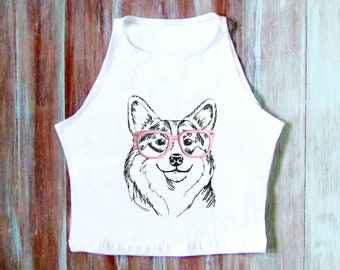 Corgis Hund Crop Top-Hipster Corgis Crop Top - Hund Liebhaber Yoga Top