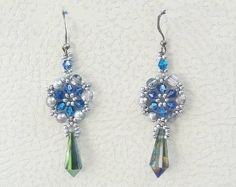 Handmade earrings, pendant earrings, beaded earrings, special earrings, crystal earrings, drop earrings, made in Italy